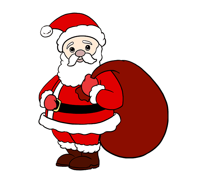 678x600 How To Draw Santa Claus In A Few Easy Steps Easy Drawing Guides