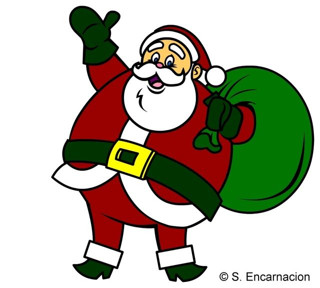 640x575 Santa Claus Images For Drawing In Colour