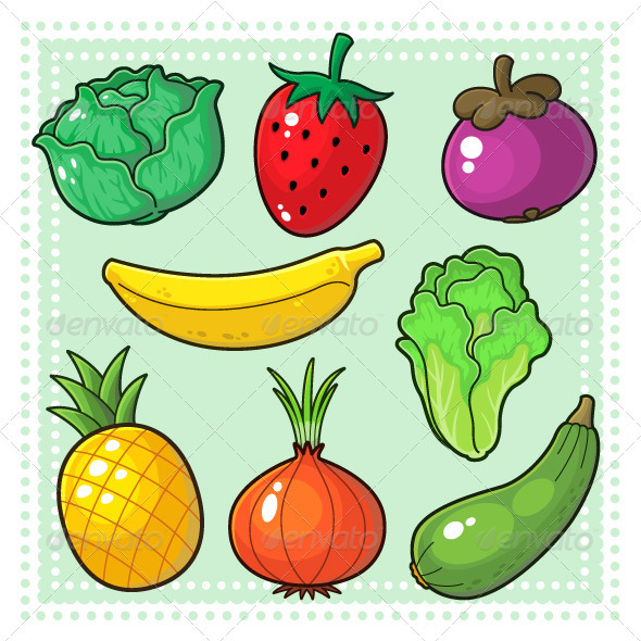 590x590 Fruits Amp Vegetables 03 By Mikailain Graphicriver