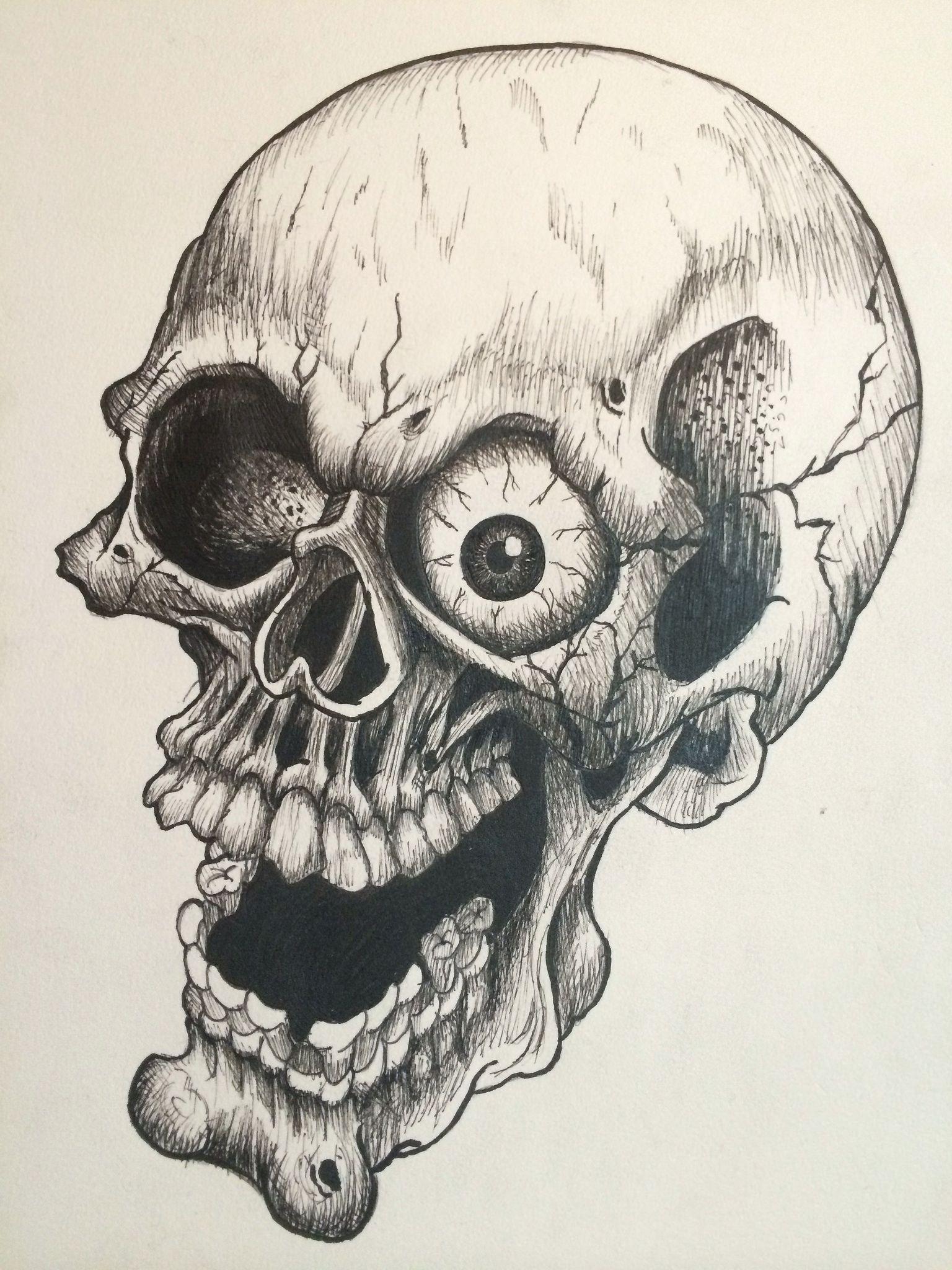1536x2048 Cartoon Skull Drawing.jpg Peace Skull