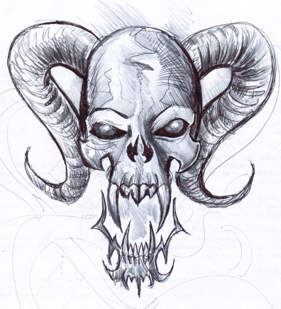 930x1024 Cool Drawing Of Skulls