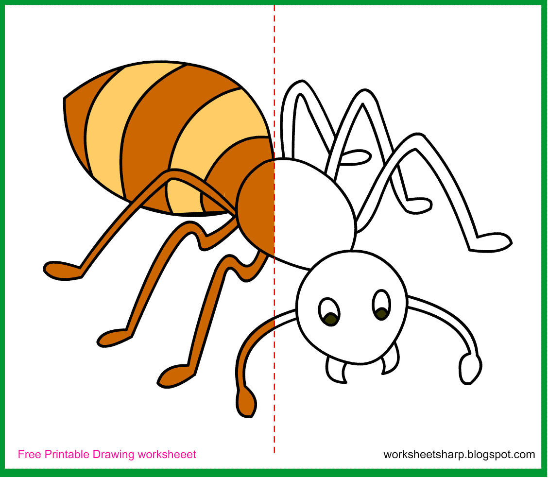 1130x984 Ant Drawing For Kids Online Drawings To Paint 50 About