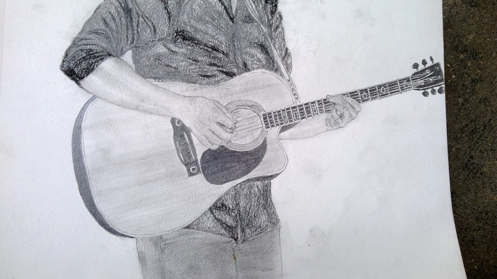 1024x575 Mad With Music(Pencil Drawing) By Vignesh257