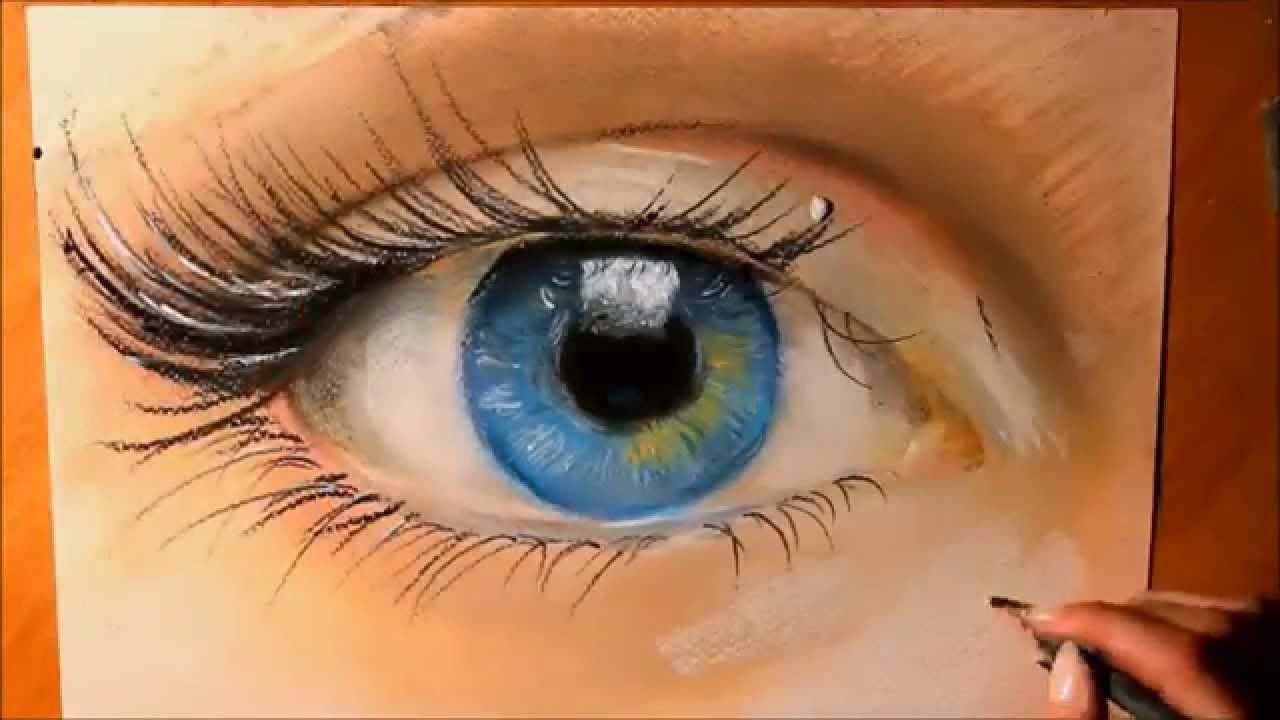 1280x720 How To Draw A Realistic Eye With Pastels Realistic Art (Speed