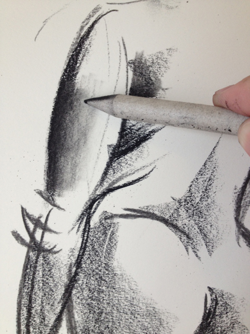 500x667 shadow and smudge a drawing with charcoal tutorial