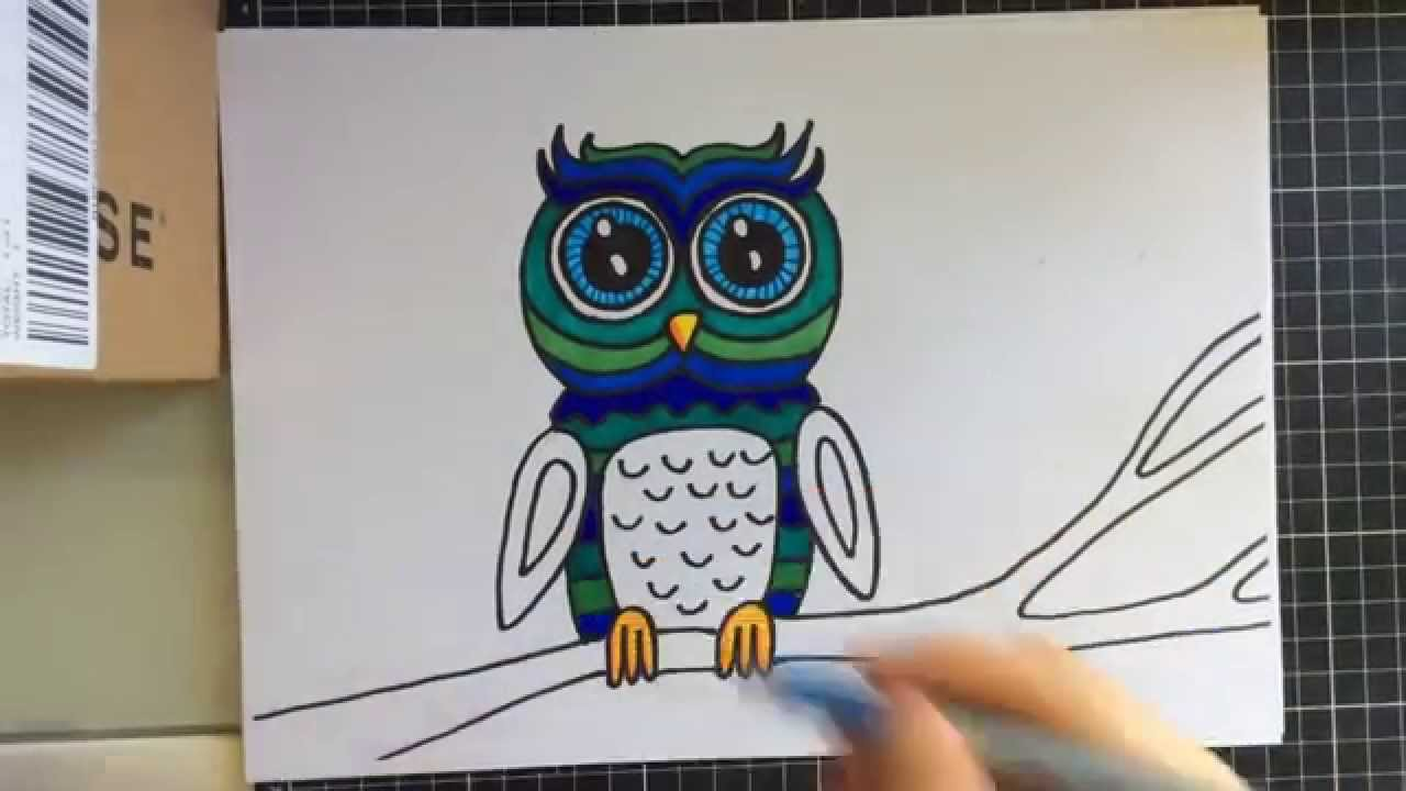 1280x720 How To Draw A Cute Owl With Sharpies