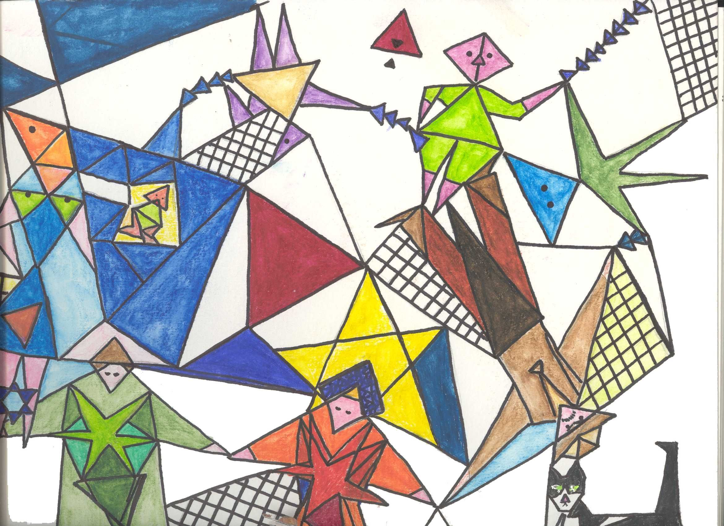 2340x1700 Jeanne's Conceptual Drawing With Triangle Units. Triangle