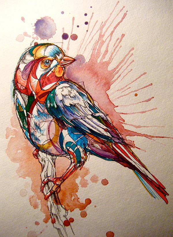 600x822 Watercolour Birds Gemmamarie
