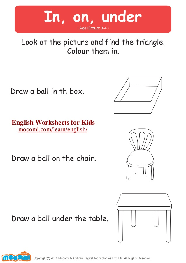 638x903 In On Under â\u20ac\u201c English Worksheets for Kids â\u20ac\u201c
