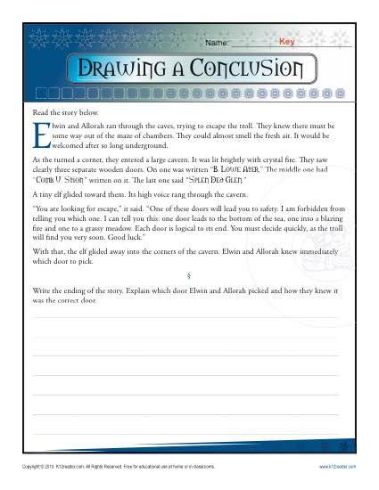 425x550 Drawing A Conclusion Worksheets 5th Grade And Middle School