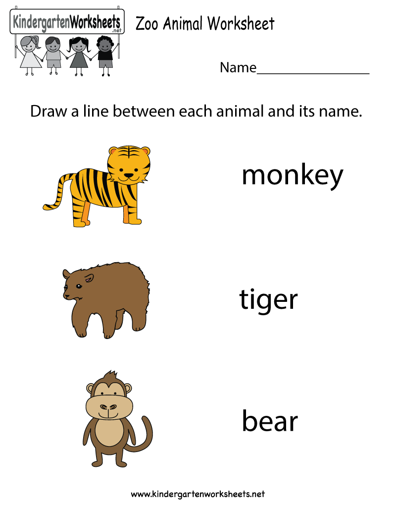800x1035 Free Kindergarten Zoo Worksheets