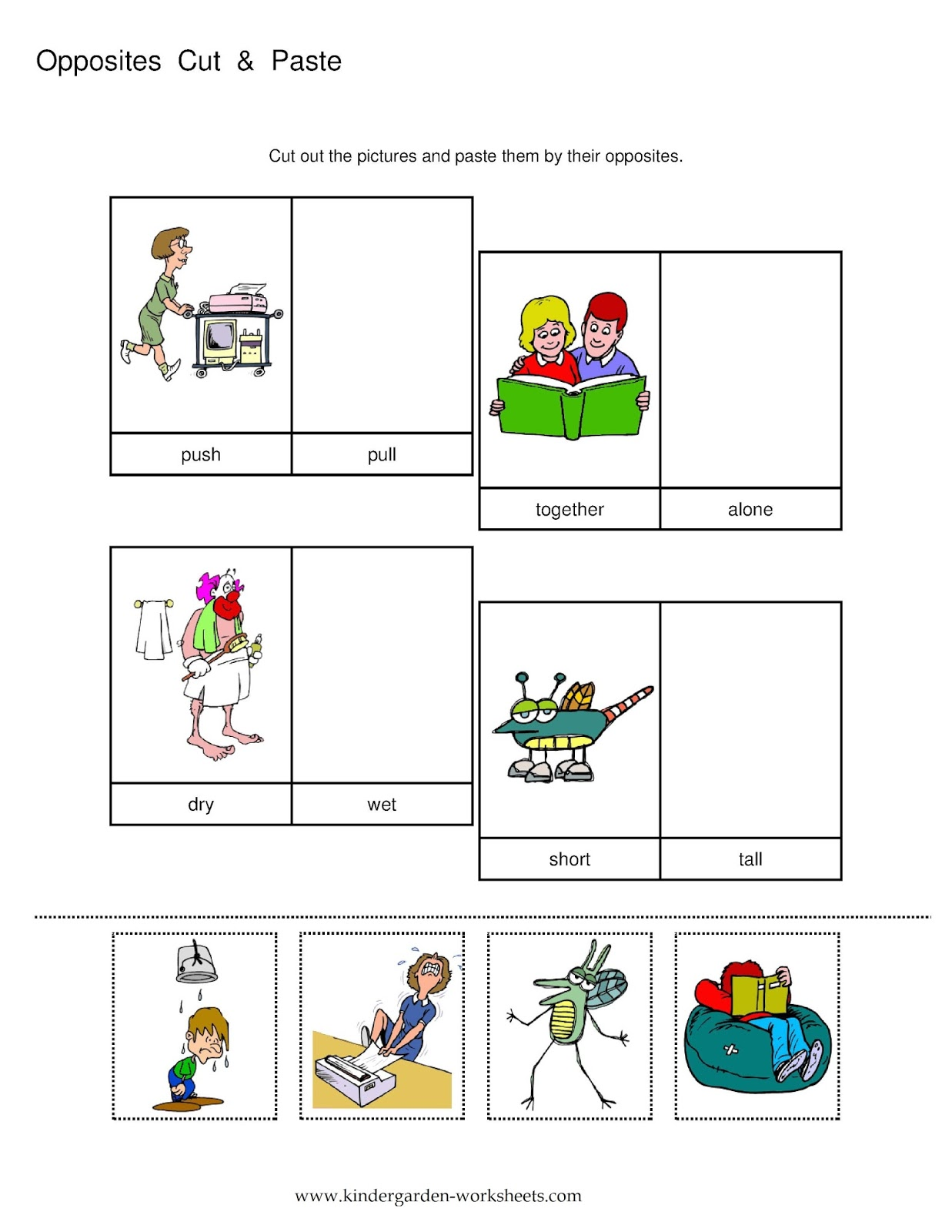 1237x1600 Kindergarten Worksheets Kindergarten Worksheets Opposite Words