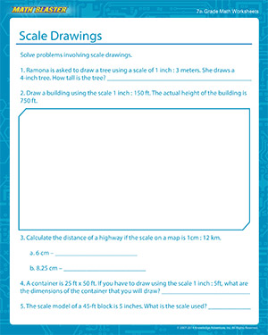 300x375 Scale Drawings Free Math Printables For 7th Grade Math Blaster