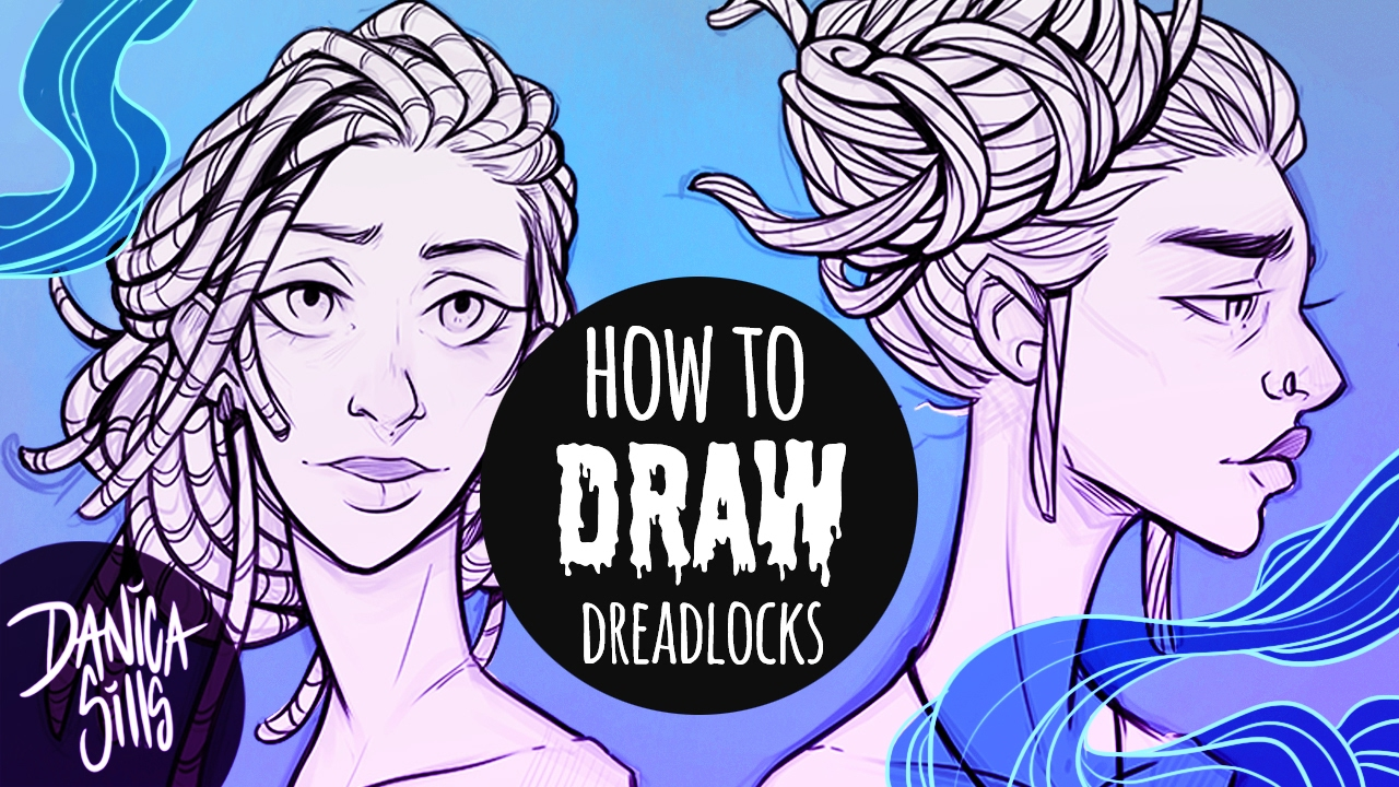 1280x720 How To Draw Dreadlocks Hair Drawing Tutorial