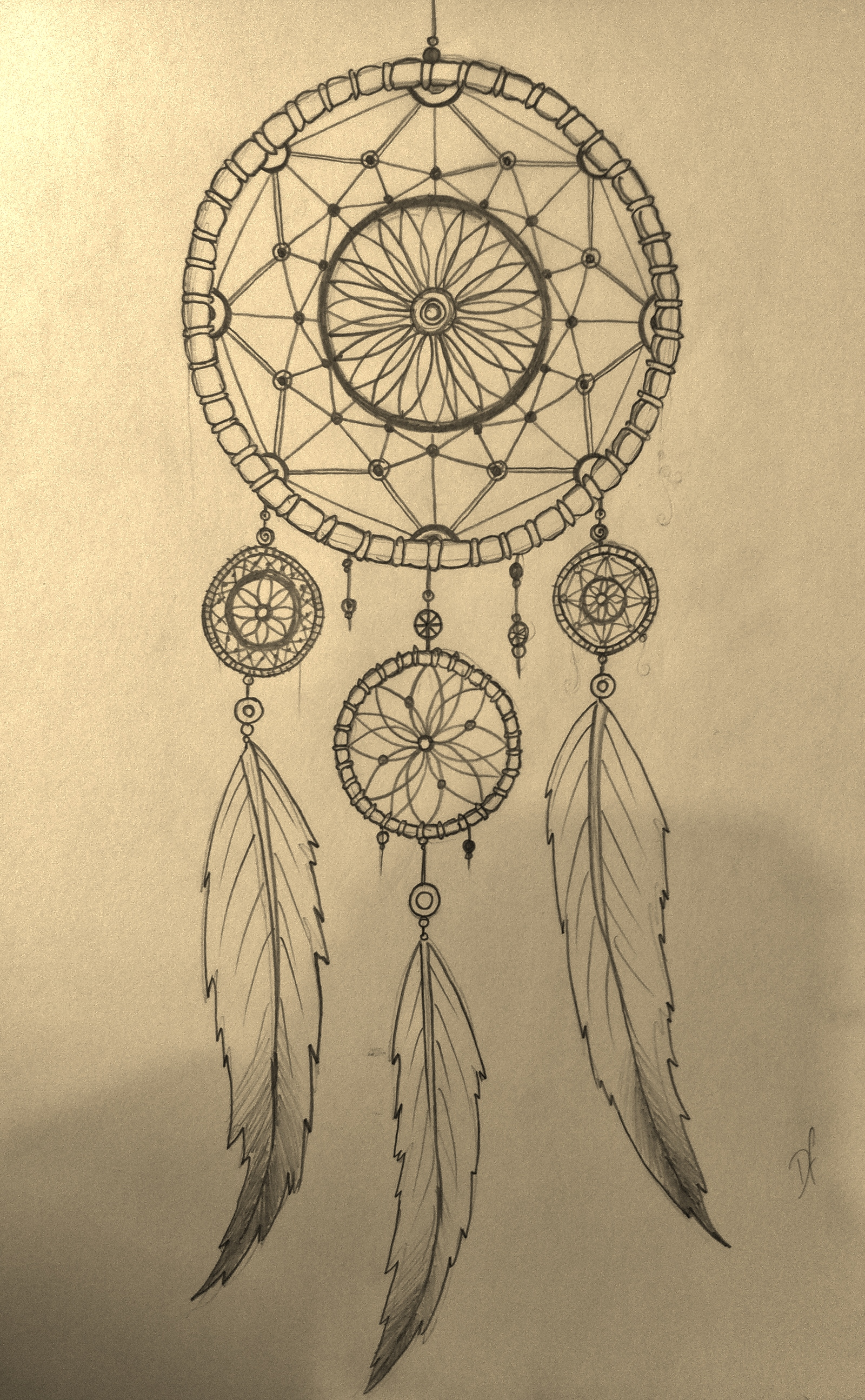 Dream Catcher Drawing At Getdrawingscom Free For Personal