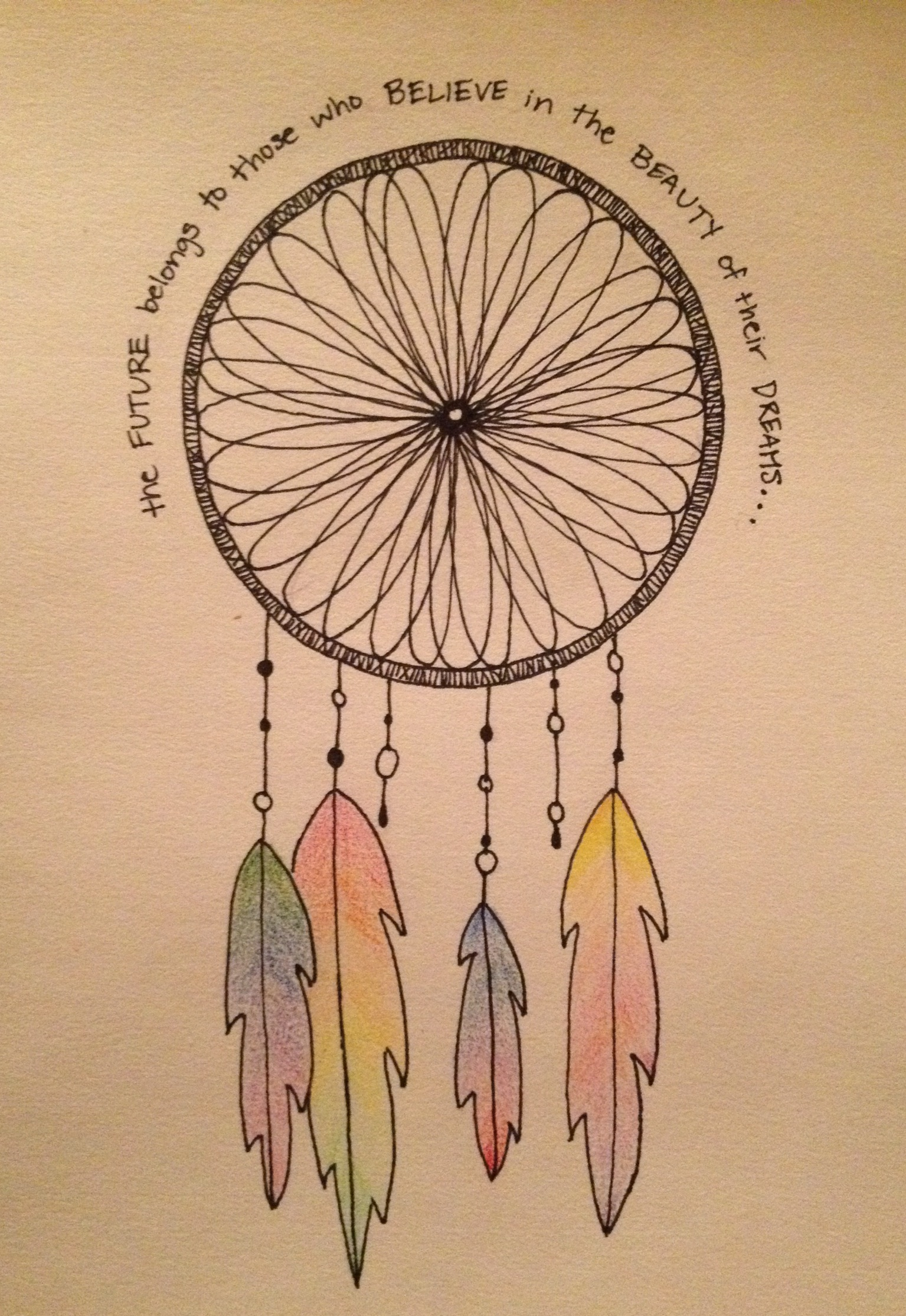 Dream catcher drawing easy at free for for Easy blueprint maker