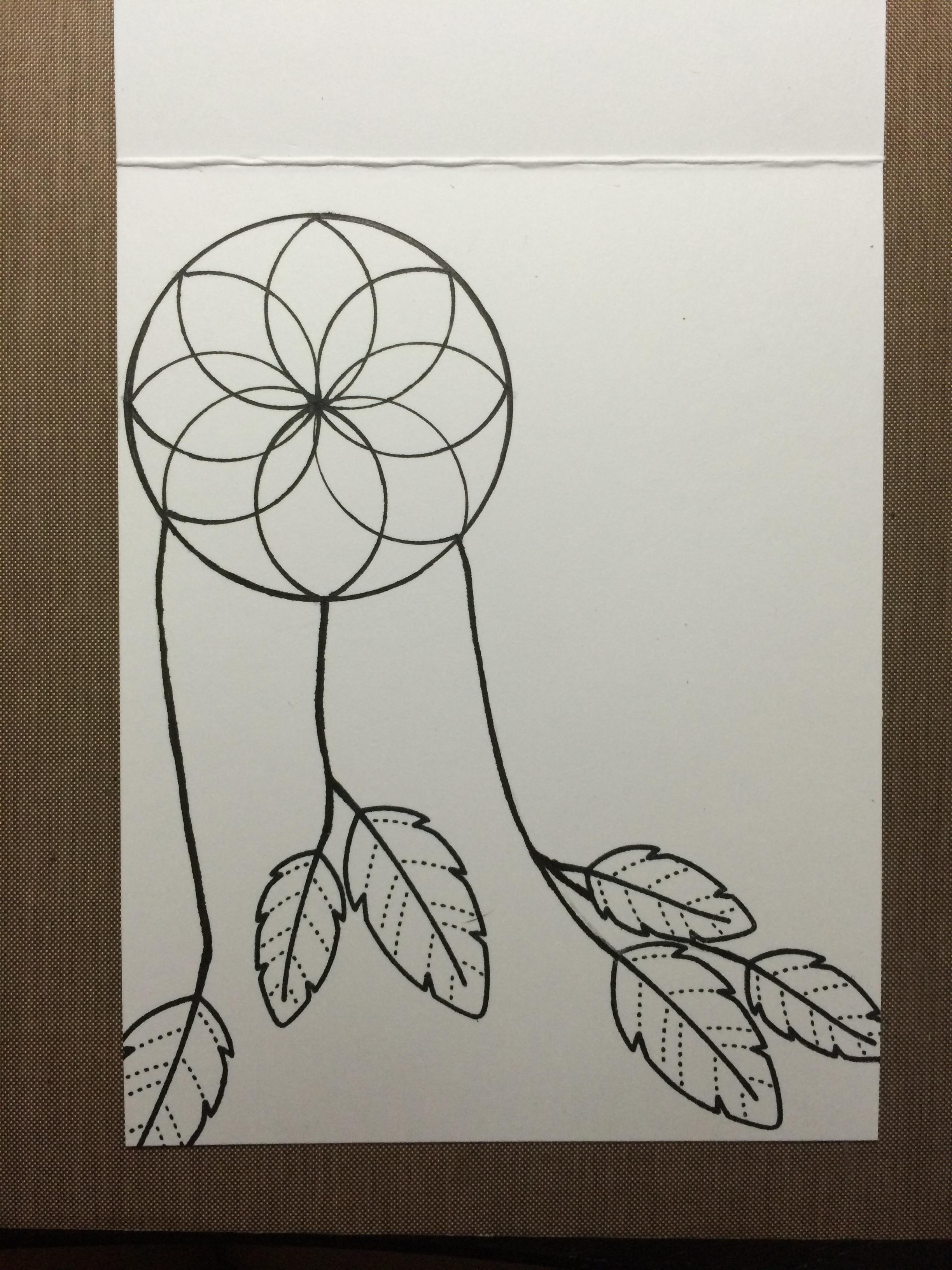 2448x3264 Dream Catcher Drawing Pencil Easy Dreamcatcher Kristin B. Fiore