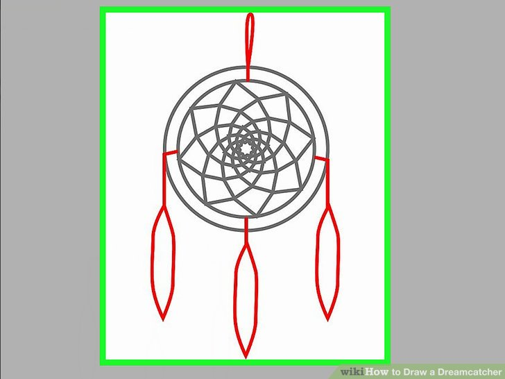 728x546 How To Draw A Dreamcatcher 13 Steps (With Pictures)