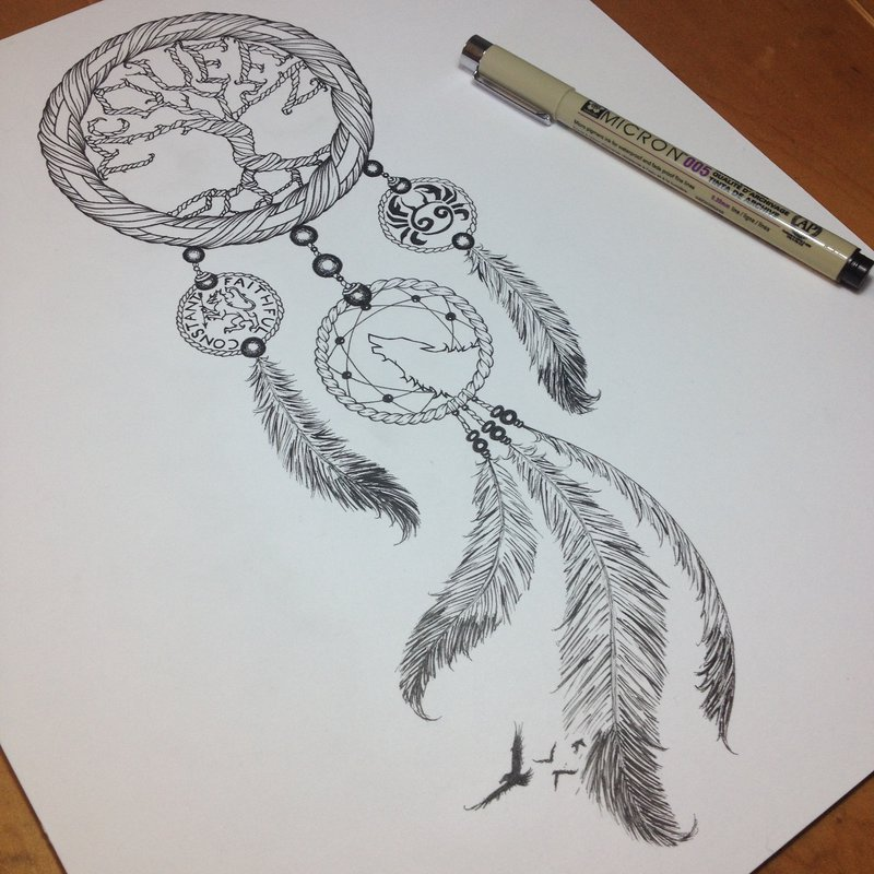 800x800 Dreamcatcher Tattoo By Somatic7