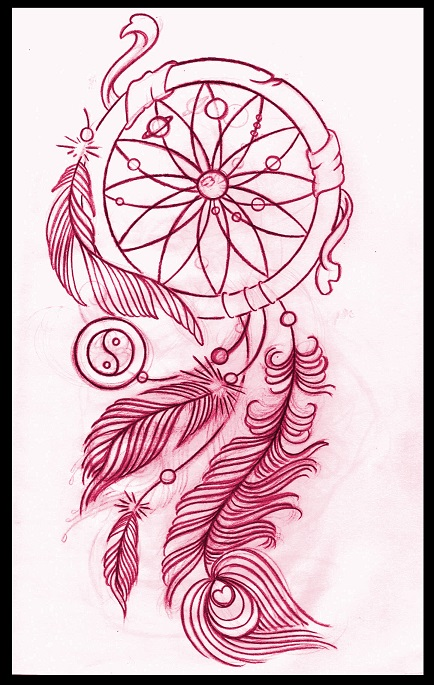 434x685 Dreamcatcher Tattoo Design By Thirteen7s