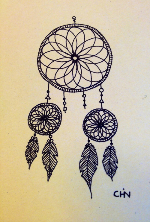 500x742 Dream Catcher Drawings Dreamcatcher Drawing On Tumblr Drawampart