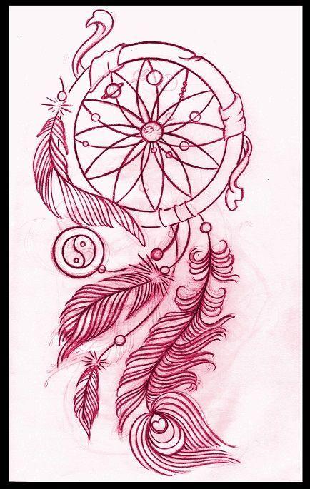 434x685 Dreamcatcher Tattoo Design By ~thirteen7s On I