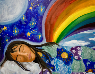 391x307 Colorful Drawing Of Woman Dreaming NHNE Pulse