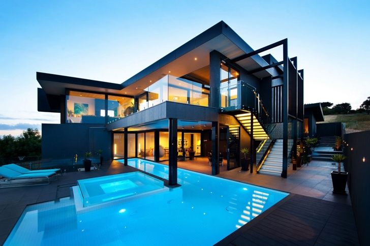 728x484 Amazing Dream Home In Black And Blue Victoria Australia
