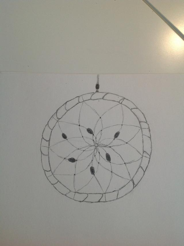 640x857 How To Draw A Realistic Dream Catcher