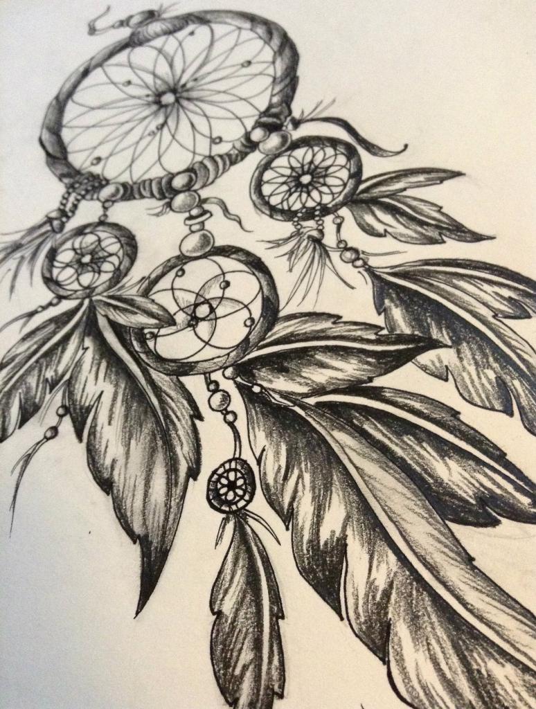 774x1024 Dreamcatcher Pencil Drawing