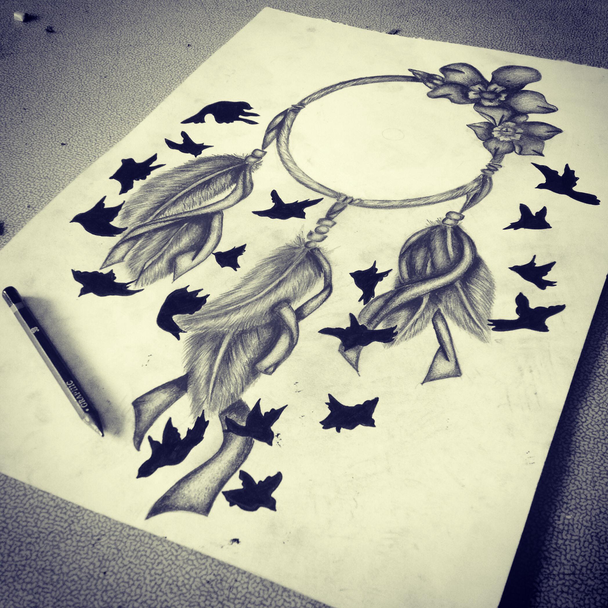 2096x2096 Lovely Dream Catchers Pencil Sketches Images A Level Art Dream
