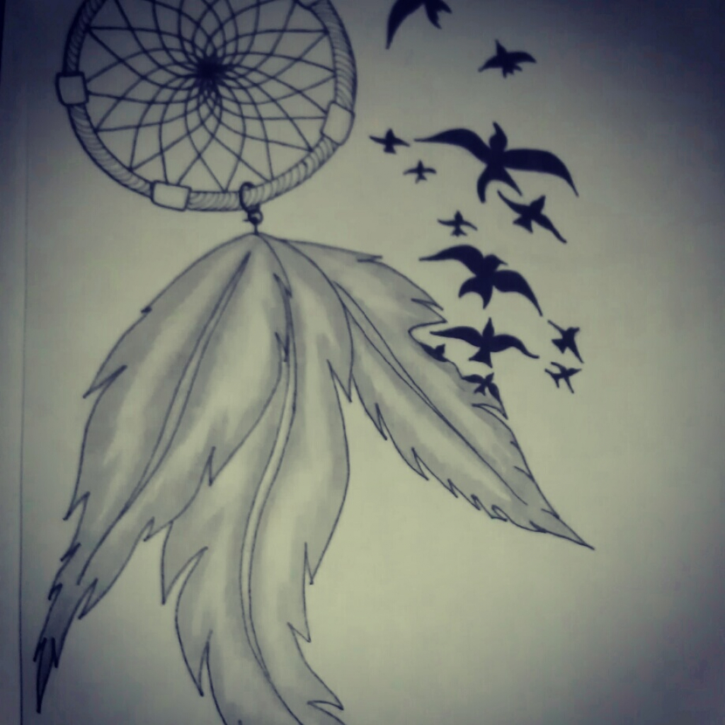 1024x1024 Pencil Drawings Of Dreamcatchers Dreamcatcher Pencil Drawing