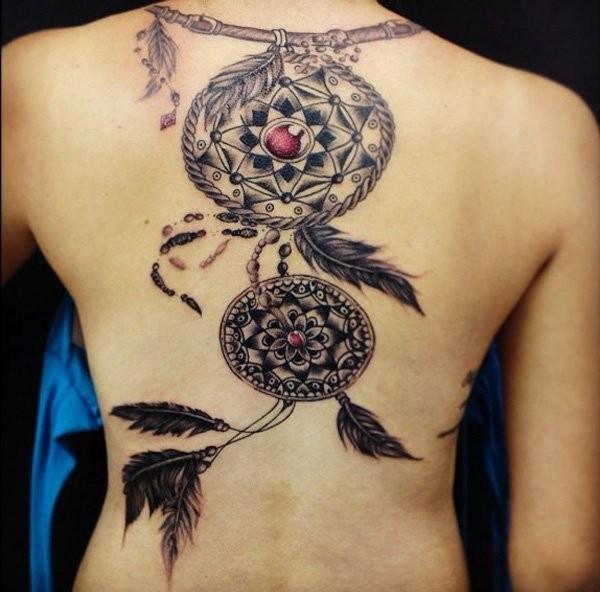 600x592 72 Unique Dreamcatcher Tattoos With Images