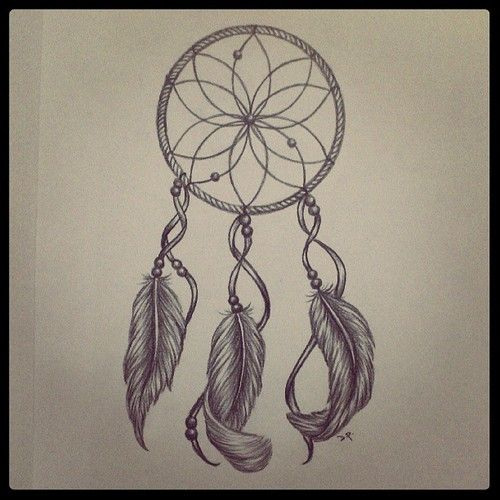 Dreamcatcher Tattoo Drawing at GetDrawings.com | Free for personal ...