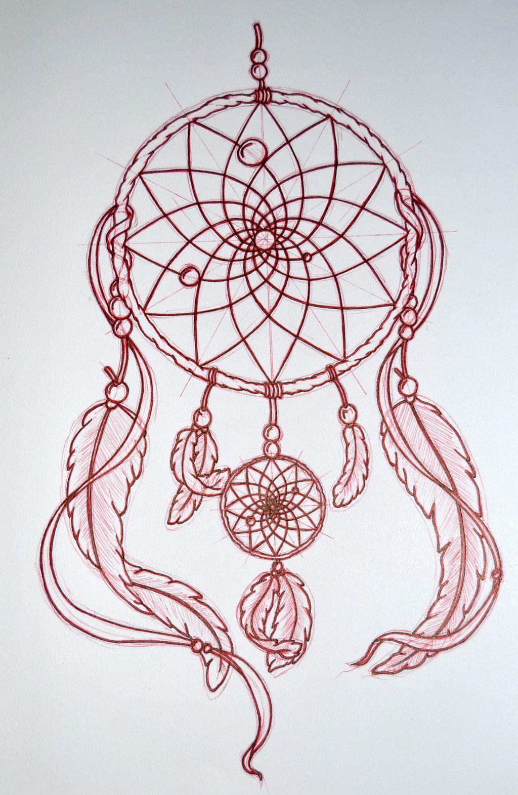 1024x1571 Mandala Dream Catcher Drawings