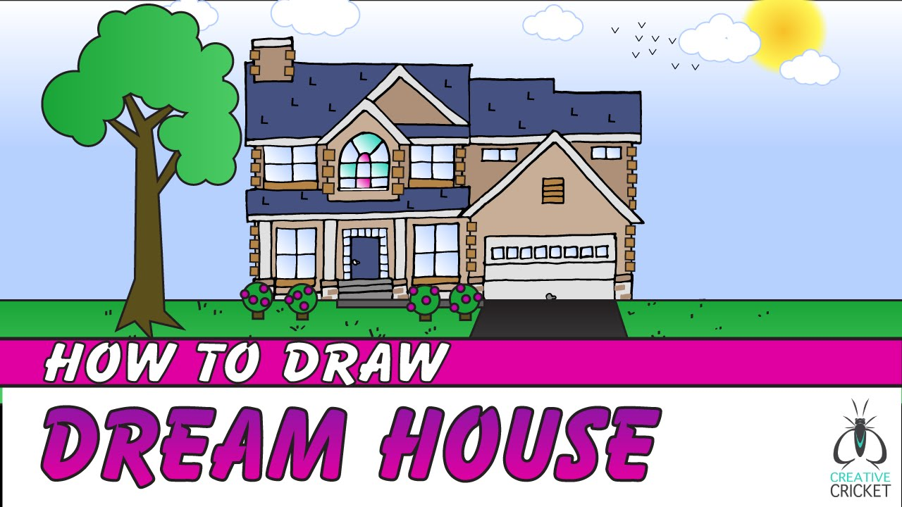1280x720 How To Draw A House Step By