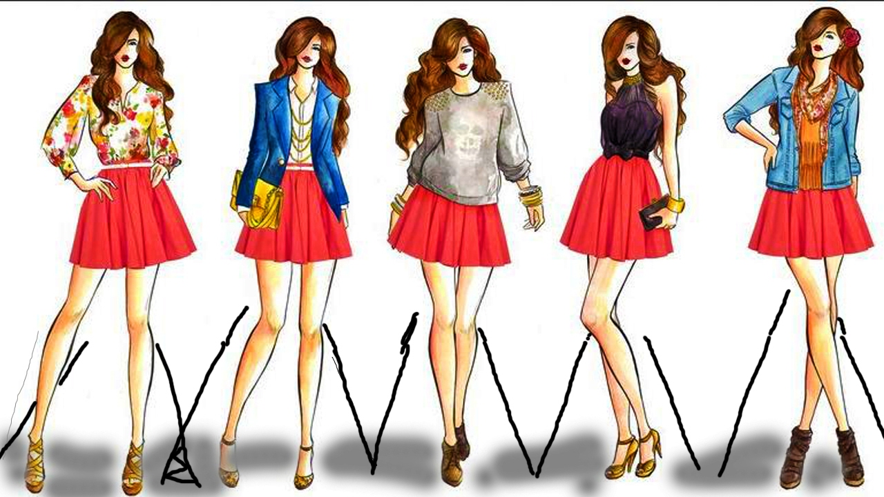 1280x720 Fashion Design Drawing 2017 Fashion Style Drawing Dress Design