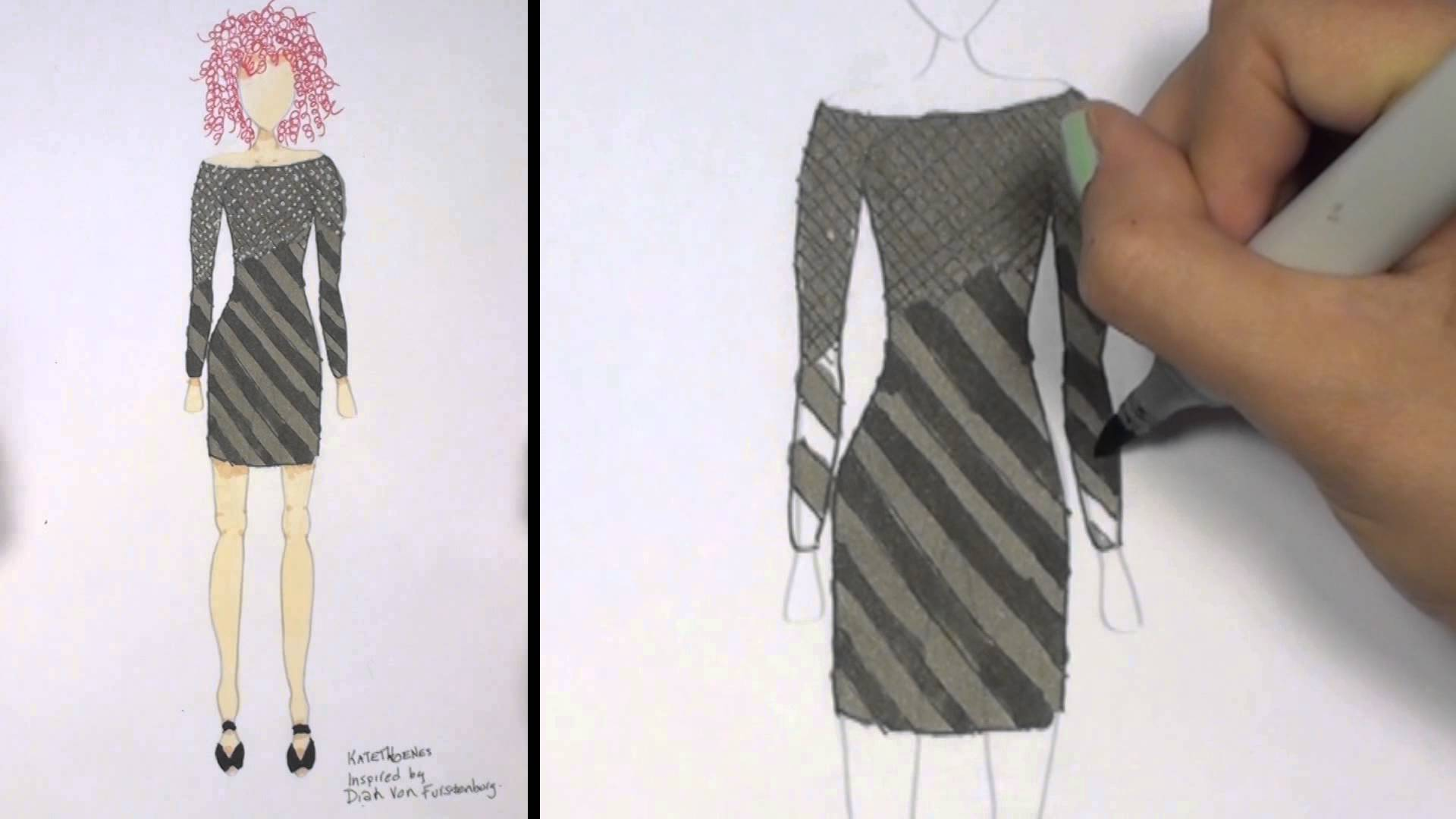 1920x1080 How To Draw Clothes For Beginners Fashion Designing Black