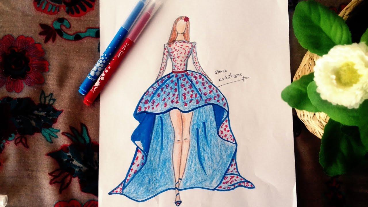 1280x720 Cute Dress Drawing