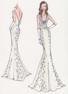 236x323 Mermaid Style Wedding Dresses Drawing