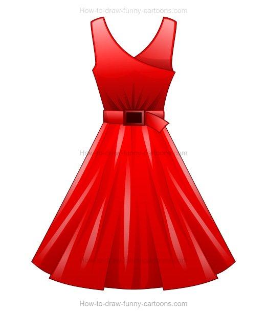 522x617 To Draw A Cartoon Dress