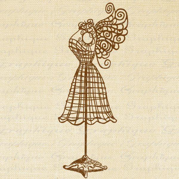 600x600 Dress mannequin clip art Dress Form Zentangle