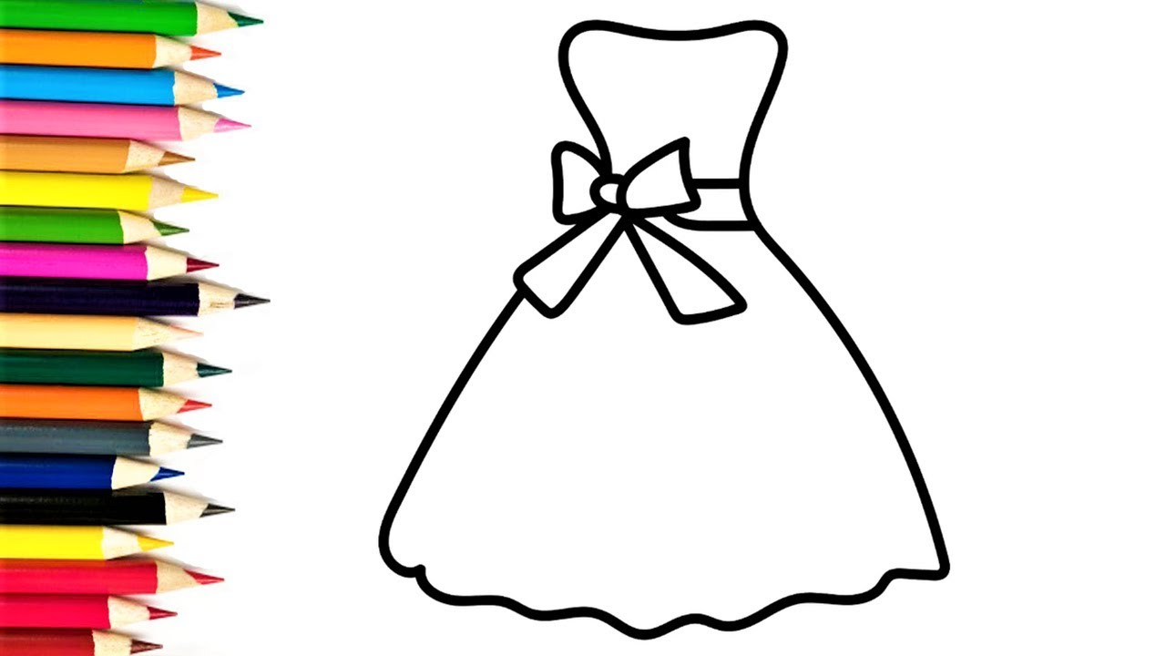Dress shirt drawing at free for personal for Dress coloring pages for girls