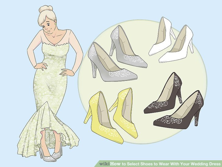 728x546 How To Select Shoes To Wear With Your Wedding Dress 10 Steps