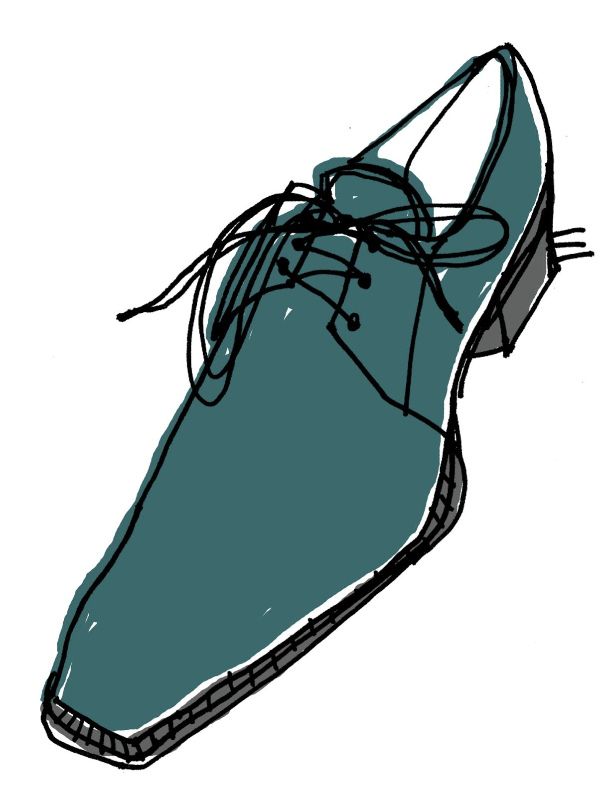 1228x1600 Though Not A Technical Sketch By Most Means, This Dress Shoe Is