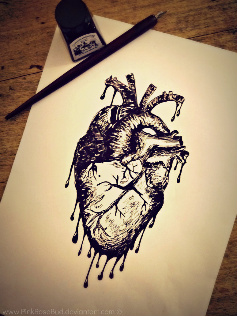 Dripping Heart Drawing at GetDrawings.com   Free for ...