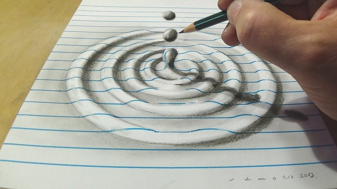 1280x720 How To Draw A Water Drop Anamorphic Illusion Local Santa Cruz