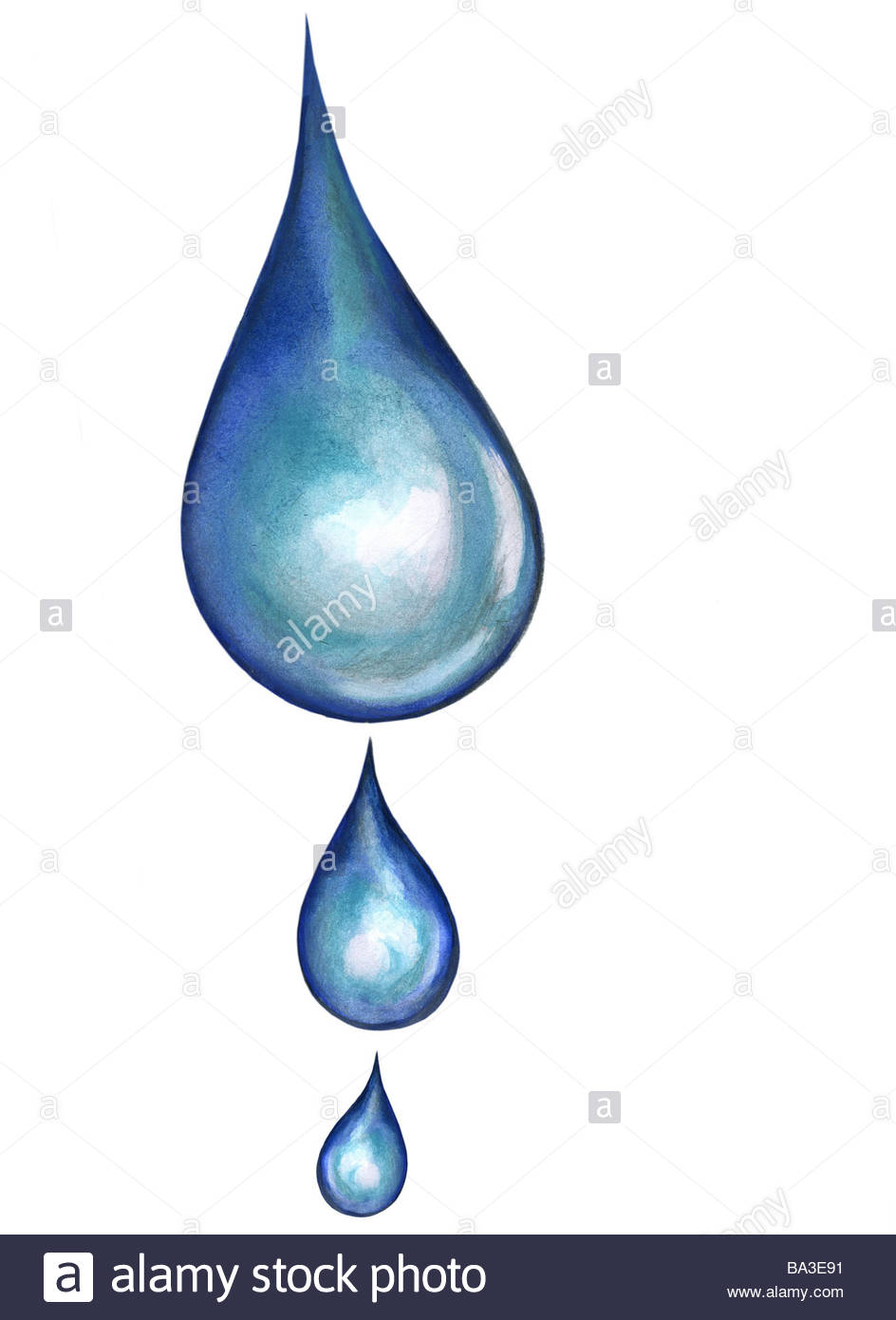 944x1390 Illustration Drops Graphics Drawing Watercolor Wetness Water Drops