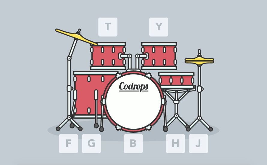 890x551 How to Create an Interactive Animated SVG Drum Kit Codrops & Drum Kit Drawing at GetDrawings.com | Free for personal use Drum Kit ...