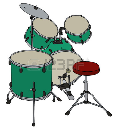 405x450 Hand Drawing Of A Blue Drums Royalty Free Cliparts, Vectors,